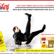 Iguanagrip antiskid treatement for wet and slippery floors